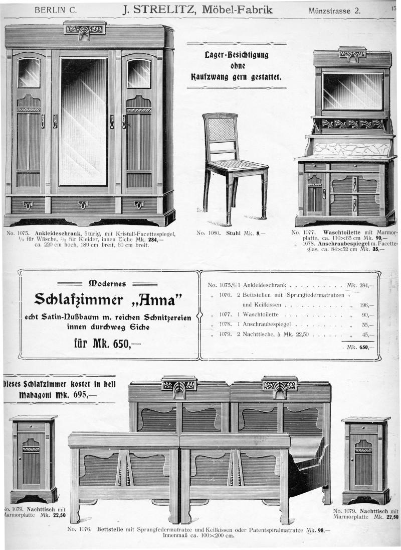 ZeitenSprung - Möbelkatalog aus Berlin, um 1909: S. 13: Modernes ...